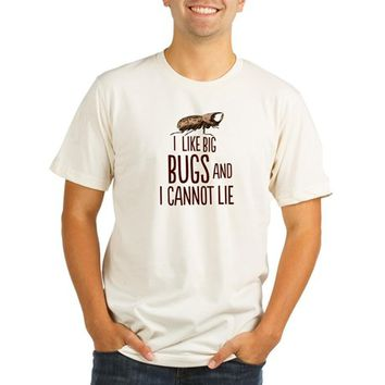 I Like Big Bugs Organic Men's Fitted T-Shirt