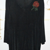 The Travel Collection 2X Black Top Embroidery Flower Traveler