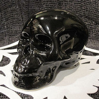Black Porcelain Skull