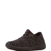 Qupid Marled Knit Lace-Up Sneakers | Charlotte Russe