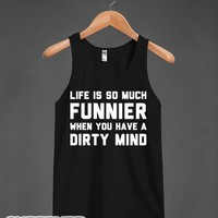 Life Is Funnier-Unisex Black Tank