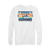 Mountain Weekend Cooler Long Sleeve T-Shirt in Classic White by Southern Tide - FINAL SALE