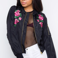 Think Of Me Bomber Jacket - Black