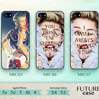 Miley Cyrus iPhone 4s case Pop star idol Miley Cyrus iPhone case iphone 4 case iphone 4s case iphone 5 case Hard or Soft Case-MIC05