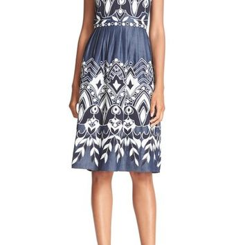 Parker 'Alana' Embroidered Cotton Fit & Flare Dress | Nordstrom