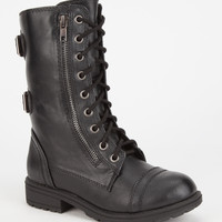 Soda Dome Girls Boots Black  In Sizes