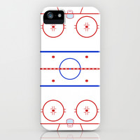 Ice Hockey Rink Diagram iPhone & iPod Case by Wayward Tees