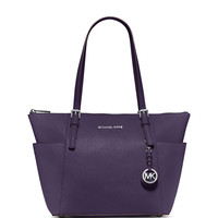 Jet Set East-West Top-Zip Saffiano Tote Bag, Iris - MICHAEL Michael Kors