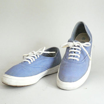 Womens Size 7.5 Blue Canvas Sneakers