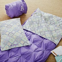 Pin Tuck Sleeping Bag + Pillowcase, Ruby Buscuit Cool
