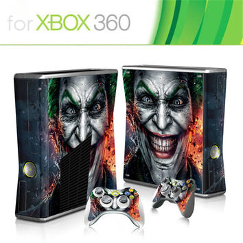HOT SELLING  Game Protector Vinyl Sticker for Microsoft Xbox 360 slim and 2 controller skins sticker  for x box 360 console