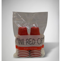 Mini Red Cup Plastic 2 oz. Shot Glass Set 20 Pc