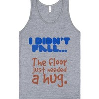 Floor Hug-Unisex Athletic Grey Tank