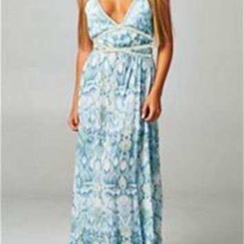 Love Stitch Snake Print Beach Maxi Dress IMP8050MRP