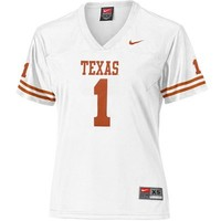 Nike Texas Longhorns #1 Women's Replica Football Jersey - White
