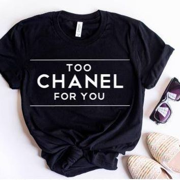 """""""CHANEL""""Hot letters print T-shirt top"""