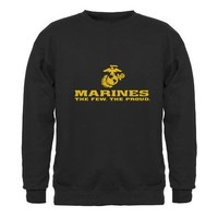 Marines Sweatshirt (dark) on CafePress.com