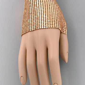 Gold Metal Mesh Hand Cover