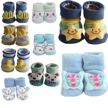 Cute Infant Baby Cotton Socks Shoes, 0 to 6 Months