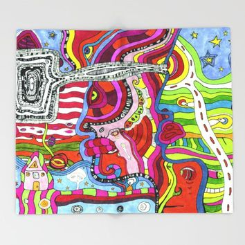 'Multi-directional' Fleece Blanket
