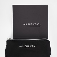 ASOS Gift Set With Note Book And Pencil Case at asos.com
