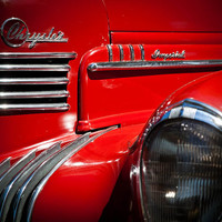 Red Chrysler Imperial Art Deco Photography Print