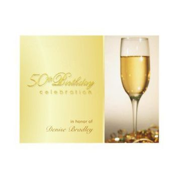 Golden 50th Birthday Party Invitations from Zazzle.com