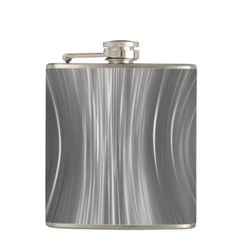 Gray Mist Futuristic Driving Dreams Wrapped Flask