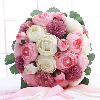 Bridal Accessory  Peony Wedding Bouquets Beautiful Wedding Bouquet Bridal Bridesmaid Flower Artificial Flower Bouquets