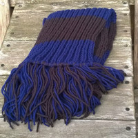 Knit Scarf - Carolina Football Fan Scarf - Blue and Black - Mens Scarf - Womens Scarf