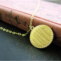 Bright Gold Love Charm Necklace by sodalex on Etsy