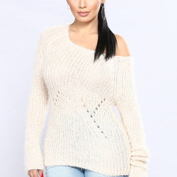 Wooly Oversized Sweater - Ivory