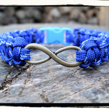 Blue Glow in Dark INFINITY Bracelet
