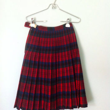 1950s Pendleton Turnabout Skirt Reversible Plaid by OakandHickory