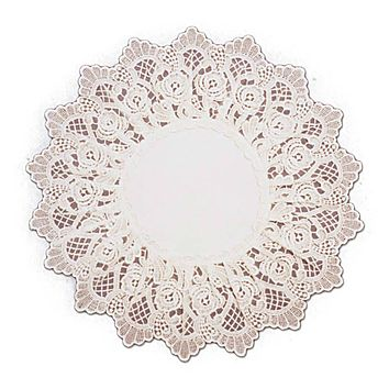 Deluxe European Rose Lace Wedding Ecru Table Linen Round