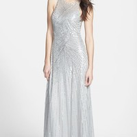 Aidan Mattox Sleeveless Sequin Gown