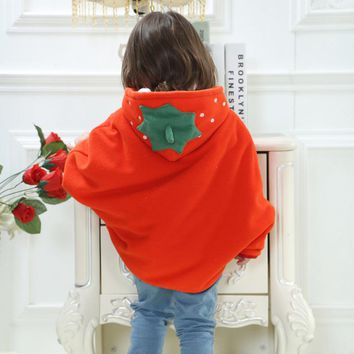 Flannel Clothing Winter Kids Children Boy Girls Thickened Baby Clothes Hoodie Cloak Baby Clothes Bebe Poncho Cape Coat Outerwear