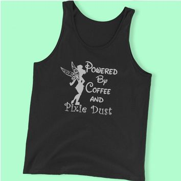 Disney Powered By Coffee And Pixie Dust Tinkerbell Men'S Tank Top