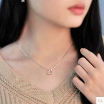 Jewelry Stylish New Arrival Shiny Gift Silver 925 Diamonds Box Simple Design Design Necklace [10794309895]