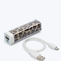 1800 mAh Smartphone Power Block in Leopard