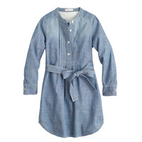 crewcuts Girls Tuxedo Chambray Shirtdress