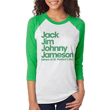St. Patricks Day The Four Fathers of St. Patrick's Day Unisex Raglan T Shirt