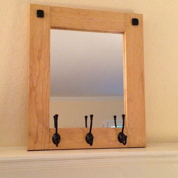 shop rustic wall mirrors on wanelo. Black Bedroom Furniture Sets. Home Design Ideas