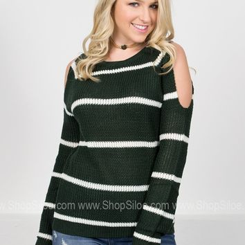 Forest Striped Knit Sweater