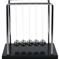 BOJIN Classic Newton Cradle Balance Balls Science Psychology Puzzle Desk Toy - Medium