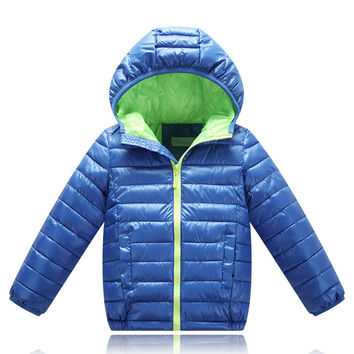 Sizes: 4T - 12/ Boy's or Girl's Hooded Winter Puffed Coat/ 3 Colors Available