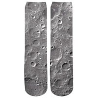 Moon Surface Crew Socks