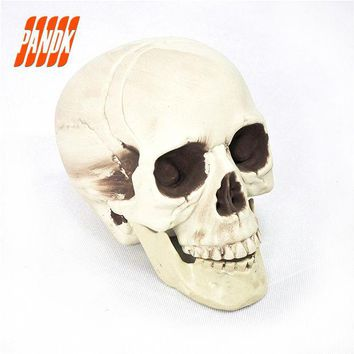 DKF4S Halloween Skull Bones Life Size Realistic Skull Haunted House Escape Horror Props Decorations Holiday Props Free Shipping
