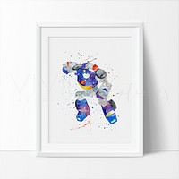 Chase, Transformers Watercolor Art Print