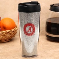 Alabama Crimson Tide 20oz. Glitter Travel Tumbler - Silver
